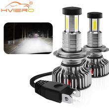 Car Fog Light LED Headlight Kit H7 H11 9005 9006 9012 Plug&Play 360 Degree Turbo Cool Fan IP70 Head Lamp Turn Signal Light 6000k