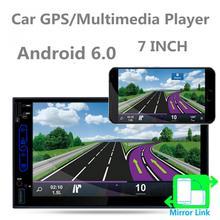 7 Inch QUAD Core Android 6.0 2Din Bluetooth Car Radio Stereo Player Digital Touch Screen GPS Navigation AM / FM / RDS Radio стоимость