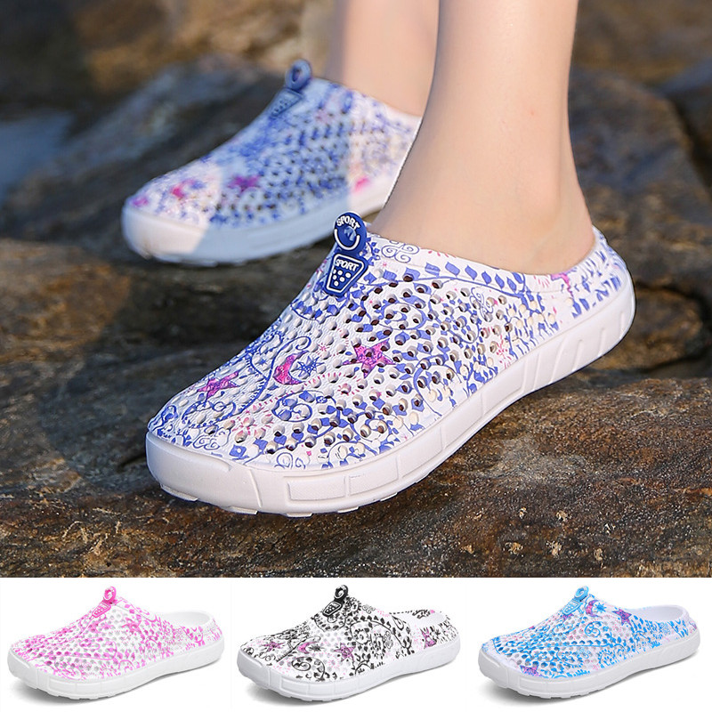 Fashion Ladies Beach Breathable Mesh Slippers Slippery Clogs Shoes