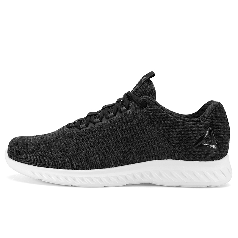 PEAK Men Running Shoes Autumn Winter Outdoor Warm Shoes Elastic Gym  Sneakers Black Lightweight Mesh Sports Shoes