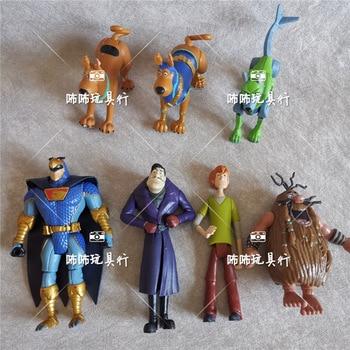 Rare Lot 5Pcs Scooby Velma Daphne Shaggy Dog Fred 5 Action Figures Cartoon Doll Doo Toys Kids Gift