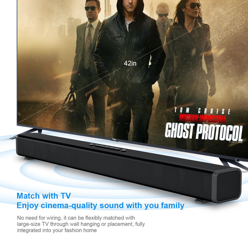 40W  HiFi  Wireless bluetooth Soundbar Speaker 3D Surround Stereo Subwoofer for TV Home Theatre System Sound Bar movie 5