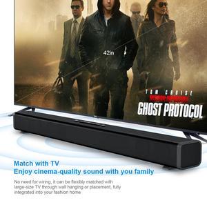 Image 5 - 40W HiFi kablosuz bluetooth Soundbar hoparlör 3D Surround Stereo Subwoofer TV ev sineması sistemi ses çubuğu film