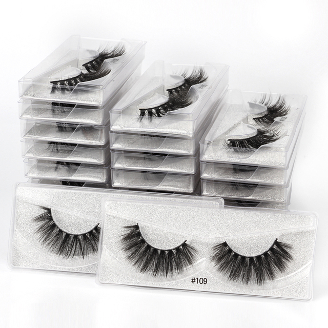 10 pairs faux mink eyelashes bulk wholesale natural long false eyelash extension 3d lashes eye fluffy soft fake cilios makeup 3