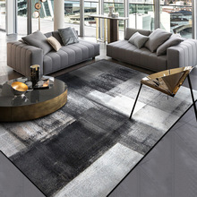 Moda dywany do salonu prosty nowoczesny abstrakcyjny dywaniki chiński Sofa stolik dywaniki atrament czarny szary na podłogę do sypialni Mat tanie tanio NoEnName_Null Gabinet Modern 100 poliester Domu Hotel Handlowych Maszyna wykonana Plac AUBUSSON piece Pranie ręczne Nowoczesne