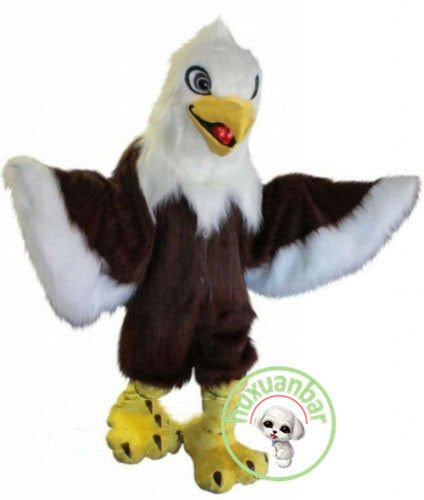 Eagle Mascot Costume Long Fur Animal Suit Halloween Cosplay Fancy Dress Adults
