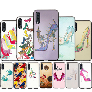 High heels heeled shoes Silicone Phone Case for Samsung A3 A5 A6 Plus A7 A8 A9 A10s A20s A30s A40s A50s A70 J6