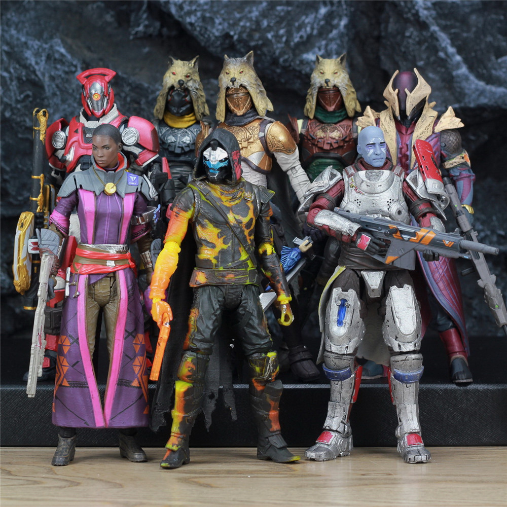 """McFarlane Toys DESTINY 7"""" Iron Banner Hunter Titan King's Fall Warlock Action Figure Model Million Blacksmith Shader Bungie Game-in Action & Toy Figures from Toys & Hobbies"""