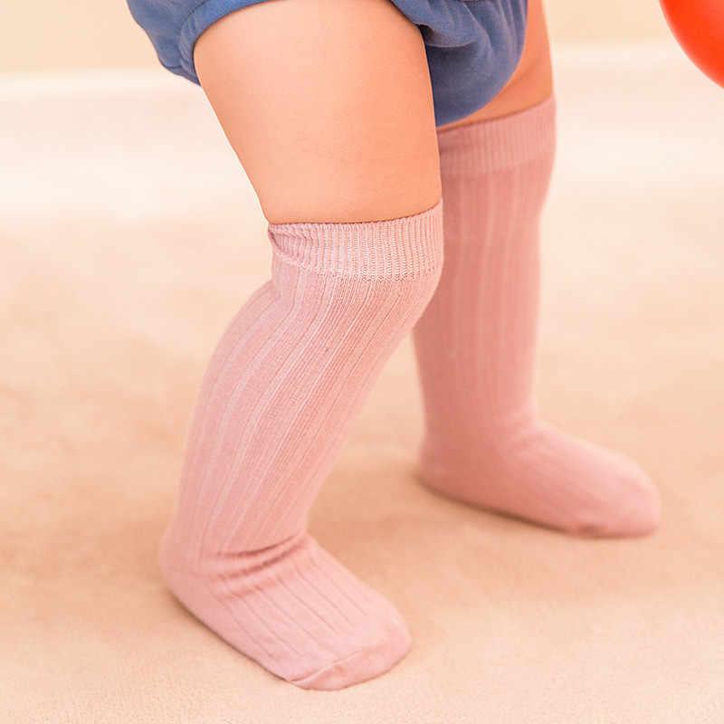 Kids Jongen Meisjes Zachte Katoenen Kousen Zomer Ademende Sokken Knie Hoge Effen Kleur Eenvoudige Stijl Kousen 0-3 Jaar