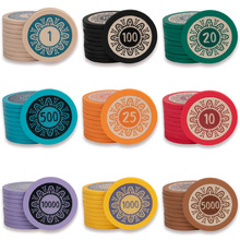 Poker Clay-Chips Texas-Hold'em Gambling Premium Wholesale 14-Gram High-Quality 10pcs/Set