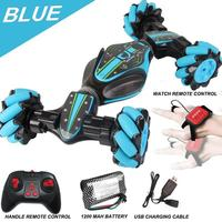 GW124 2.4Ghz RC Off road Stunt Car Amphibious Vehicle With Watch Remote Control Induction for Childrens Toys Gifts