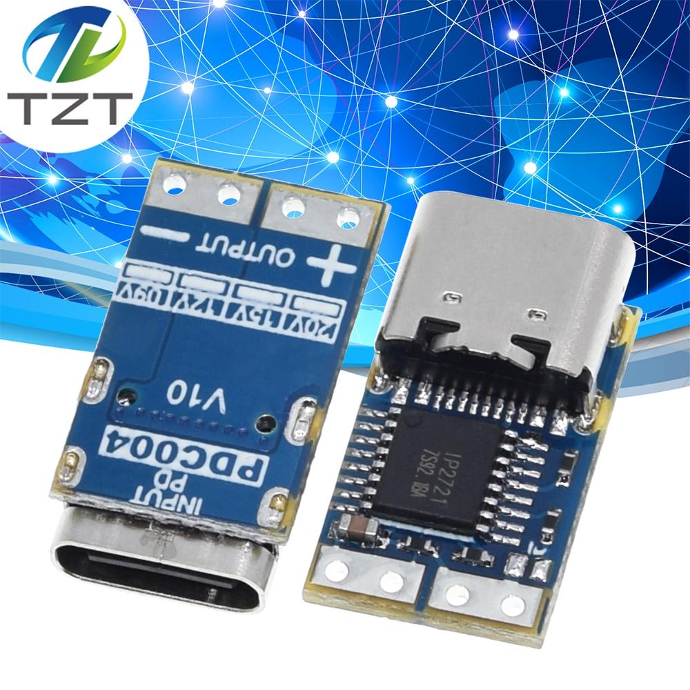 Тип-C PD манок модуль PD23.0 к DC триггер кабель-удлинитель для QC4 зарядное устройство 9V 12V 15V 20V PDC004-PD