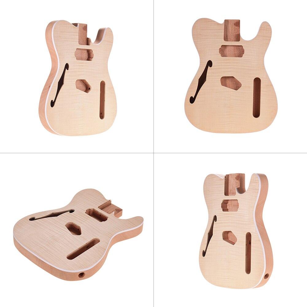 Muslady TL-FT03 non fini guitare corps acajou bois blanc guitare baril pour télé Style guitares électriques bricolage pièces - 5