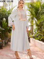 Узнайте платье мечты для женщин; Большие размеры женская футболка с круглым вырезом и с длинными рукавами, блузы с модным принтом шить бусин...