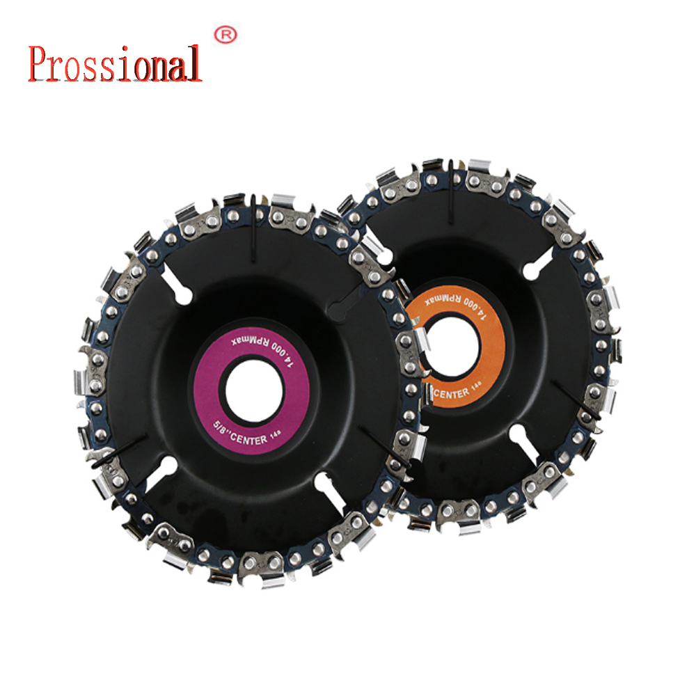 New Multi function Woodworking Chain 4 Inch Grinder Disc and Chain 22 Tooth Fine Cut Chain Set For 100 115 Angle Grinder Hand Tool Sets     - title=