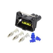 5pcs 3 pin jacket sensor connector Automotive waterproof with terminal DJ7033C-3.5-21