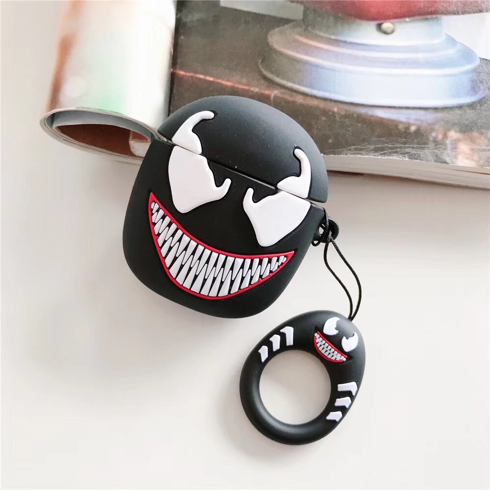 Cute Cartoon Superheros Bluetooth Earphone Case Protective Cover Skin Accessories for Airpods Cases Charging Box with Hooks in Earphone Accessories from Consumer Electronics