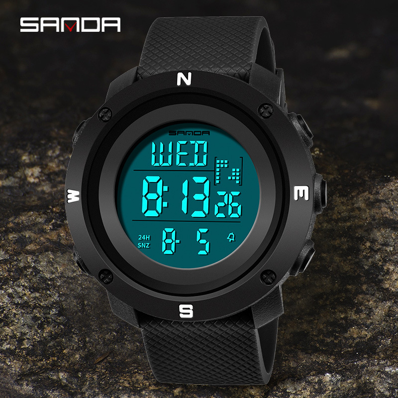 Digital Sports Watches Men Fashion Outdoor Electronic Watch Male Youth Student Men Women Female Waterproof Couple Top LED Clock