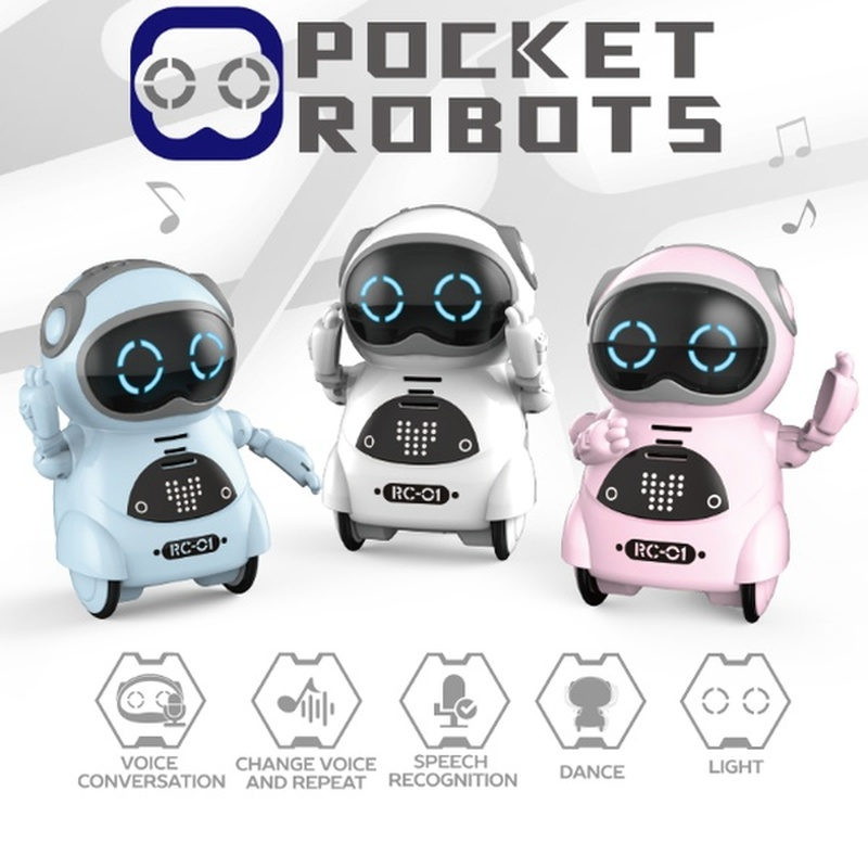 Electric Multi-function Voice Intelligent Mini Pockets Early Education Puzzle Interactive Story Robot For Children Birthday Gift