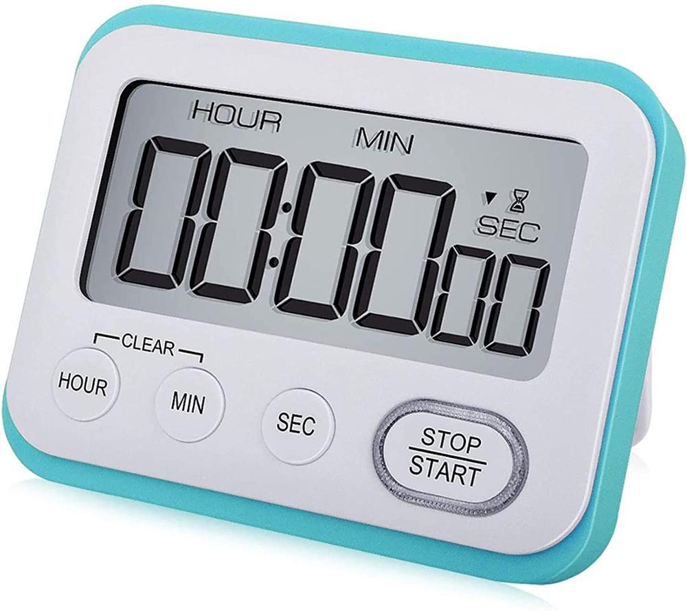 Digital Kitchen Timer Magnetic Loud Alarm Clock, Large LCD Screen Silent/Beeping Multi-Function for Teachers Kids