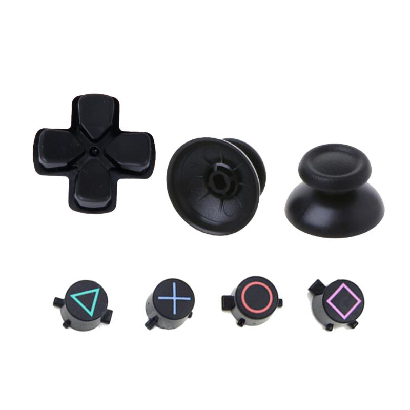 Analog Joystick ThumbStick Grip Caps ABXY X D-pad Buttons Set Repair Parts For Sony Playstation Dualshock 4 DS4 PS4 Controller
