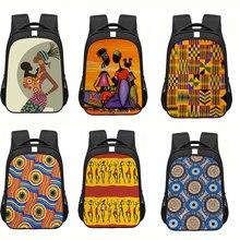 School Backpack Bookbag Kids Womanteenager Boys Children Print Afro Africa