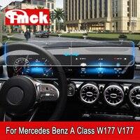 لسيارة Mercedes Benz A Class W177 V177 A180 A200 A220 A250 شاشة الملاحة أداة غشاء واقٍ زجاجي مقسى-في ملصقات السيارات من السيارات والدراجات النارية على