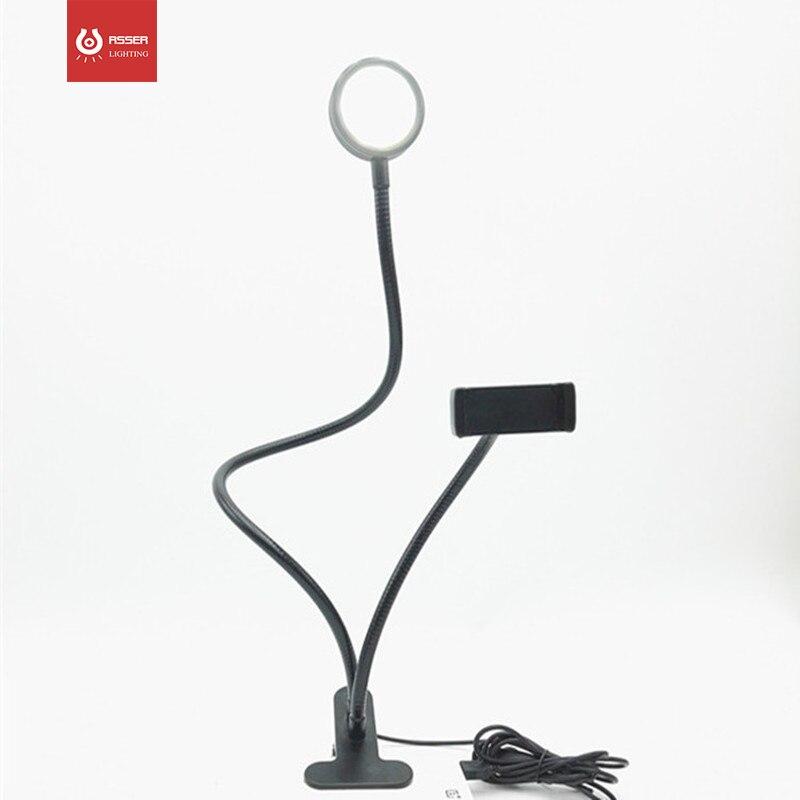 Купить портативный светодиодный затемнения кольцевыми лампами с зажимом