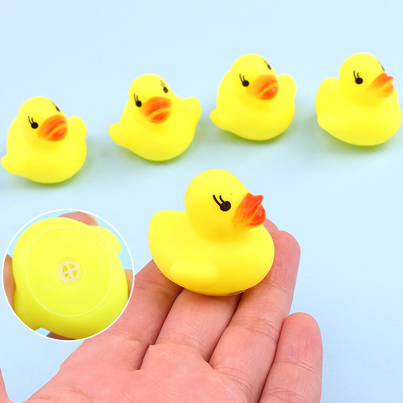 mini aneis de natacao borracha amarelo patos 05