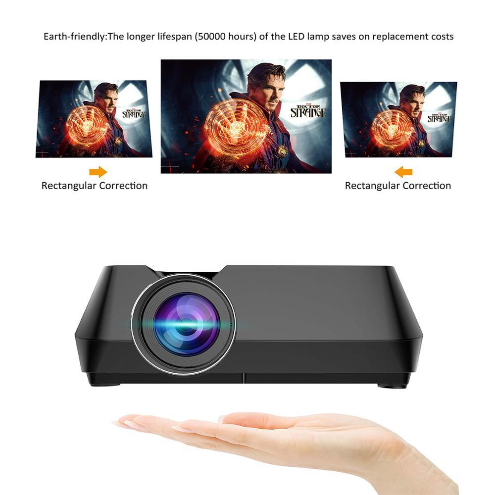 Wejoy Mini projecteur GT8 Portable affichage sans fil synchronisation en option Projetor données spectacle FHD Beamer théâtre Proyector HIFI haut-parleur - 5