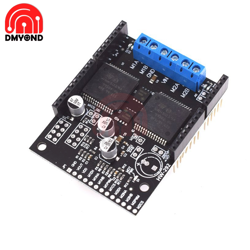 VNH5019 2 Channel <font><b>DC</b></font> <font><b>Motor</b></font> <font><b>Driver</b></font> <font><b>Board</b></font> 30A High Power Shield Module Compatible with ARDUINO Protection VNH2SP30 Upgrade image