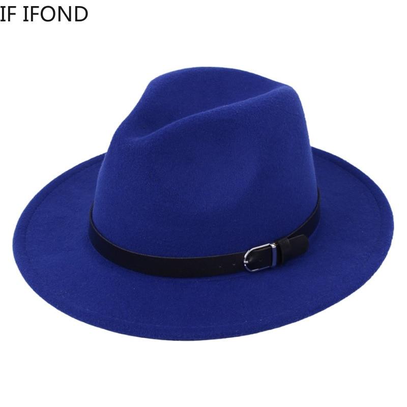 Classic British Fedora Hat Men Women Imitation Woolen Winter Felt Hats Men Fashion Jazz Hat Fedoras Chapeau wholesale 5