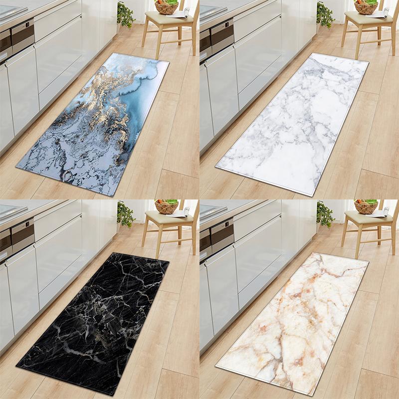 Long Kitchen Mat Floor Mat Carpet Marble Wood Grain Pattern Floor Rug Bedroom A Living Room Doormat Tapete Door Mats Yoga Mat
