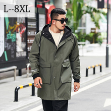 8XL Plus Size Men's Windbreaker 2020 New Oversized Trench Coat Men's Colthing