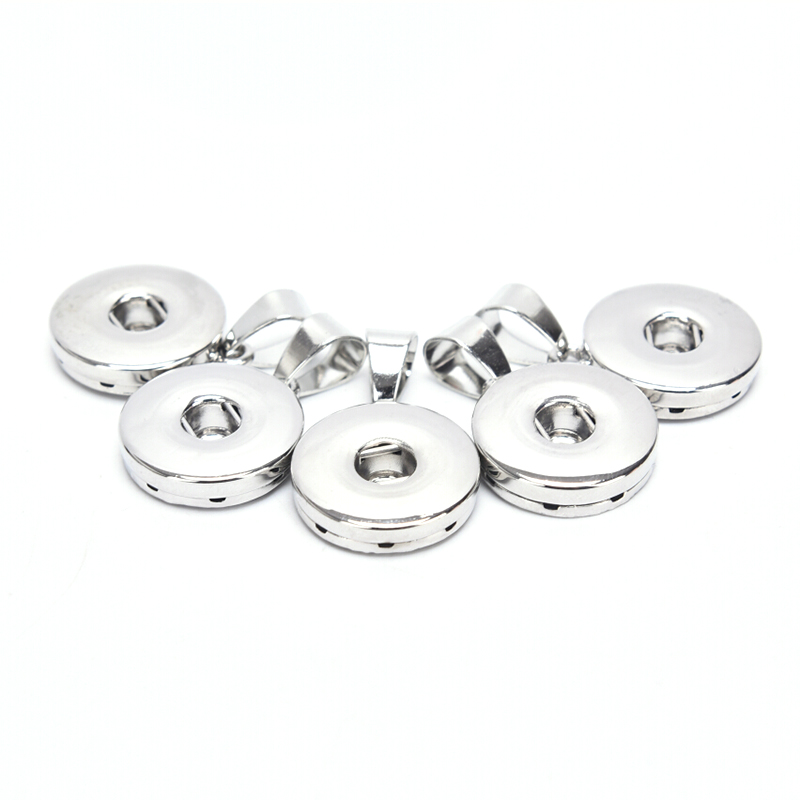10Pcs/Lot Snaps Button Base Charms Pendants DIY Jewelry Making Supplies Craft