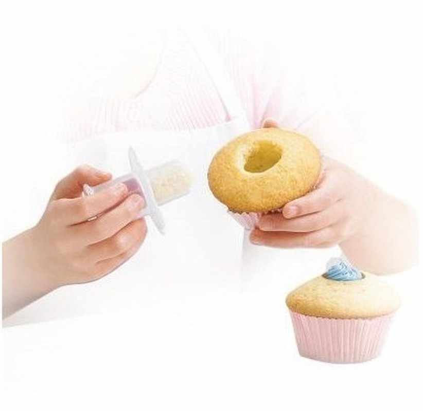 1PC เค้ก Core Remover พาย Cupcake เค้กตกแต่งเครื่องมือ Bakeware ชุดบ้านคุกกี้คุกกี้เบเกอรี่เครื่องตัด