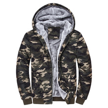 2019 Brand Clothing Autumn Mens Military  Fleece Jacket Army Tactical Male Camouflage Windbreakers Hooded Men