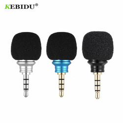 KEBIDU Cellphone Smartphone Portable Mini Omni-Directional Mic 3.5mm Jack Microphone for Recorder for iPhone Samsung Huawei