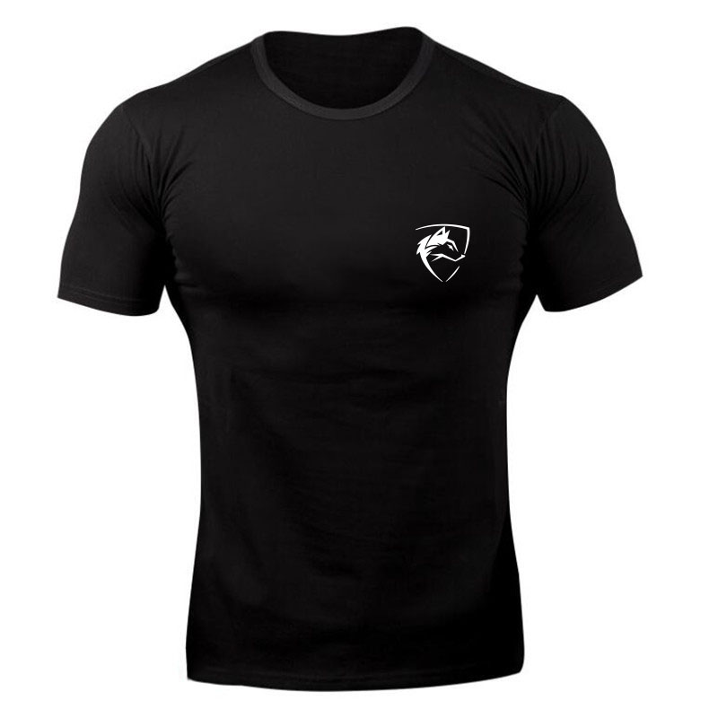 2018 Brand Men T-Shirt Fitness Slim Fit Shirts  Short Sleeve Cotton Clothes Fashion Leisure O-Neck ALPHALETE Printed Tee