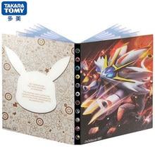 240 pçs pokemon cartão álbum titular fichário anime solgaleo mapa jogando jogo cartão livro pasta lista carregado coleção crianças brinquedo