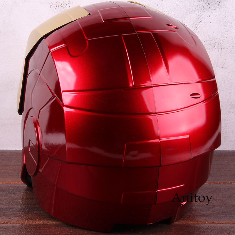 Image 3 - Marvel Avengers Iron Man Helmet Mask Motorcycle Iron Man Cosplay Helmet 1:1 Light Eyes PVC Action Figure Collectible Model Toy-in Action & Toy Figures from Toys & Hobbies