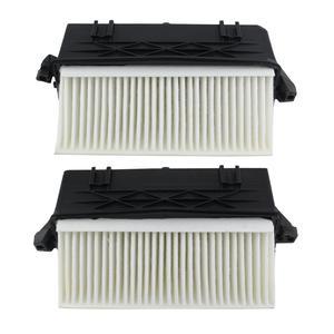 Image 2 - AP02 par de filtro de aire de izquierda y derecha para Mercedes Benz OM642 S350 ML350 ML300 GL320 GL350 E350 E300 C350 C300 CDI 4matic