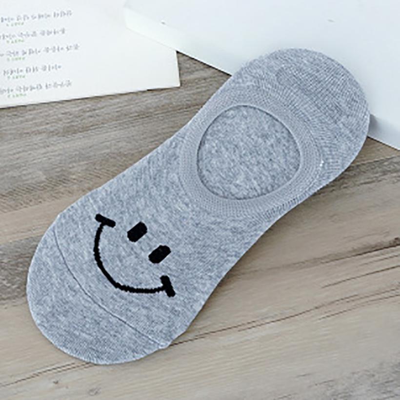 USUS-B11  Women Comfortable Smile Cotton Sock Slippers Short Ankle Socks