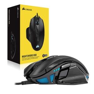 Игровая мышь CORSAIR nightsash RGB, высокопроизводительная настраиваемая игровая мышь FPS/MOBA с подсветкой RGB, оптическая 18000 DPI