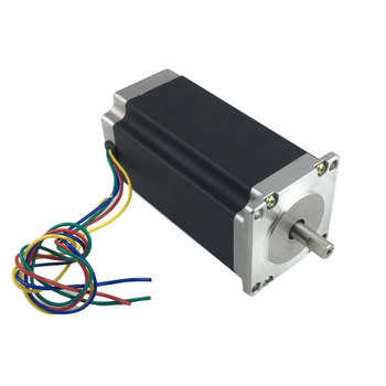 57 Stepper motor CNC Nema 23 Stepper Motor 23HS2430 425oz-in 112mm 3A 8MM CE ROHS ISO 3D Printer Robot Foam Plastic Metal image