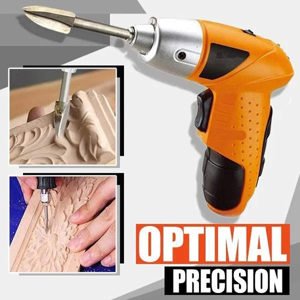 5pcs Wood Carving Engraving Drill Bit Set Milling Cutter Carving Root Tools Three Bladesfor DIY Grinding Woodworking