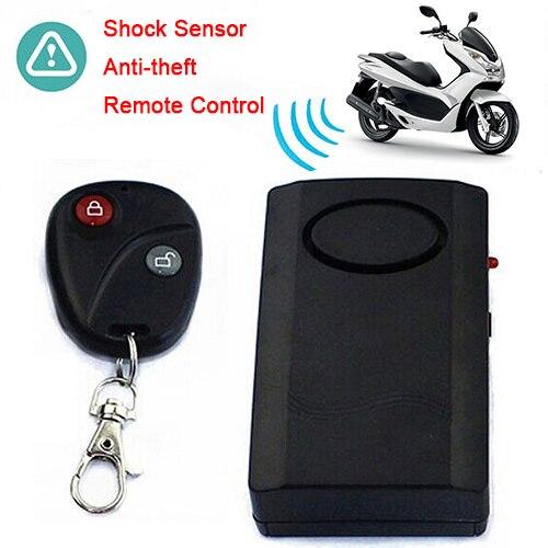 Motorcycle Motorbike Scooter Anti-theft Safe Alarm + RC Keychain For Door Window