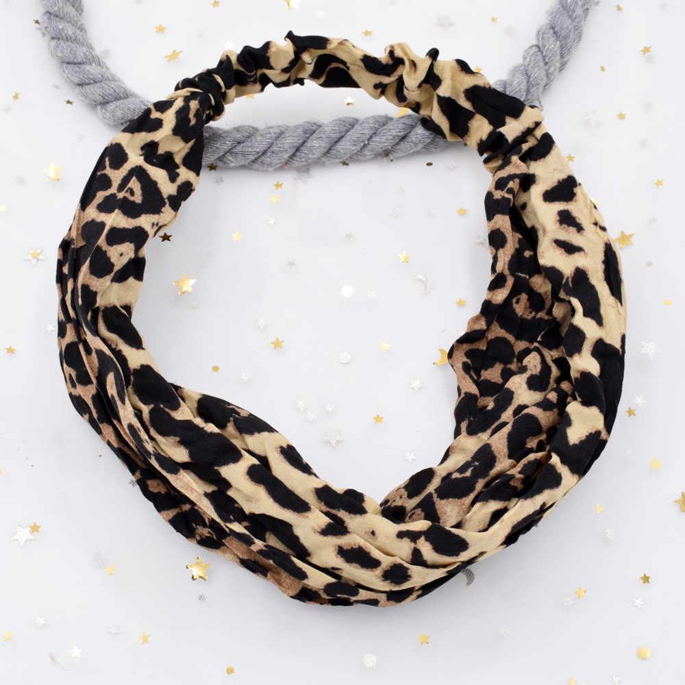 Banda elástica de leopardo para el cabello para mujer, pelo de leopardo retro, anillo de pelo para mujer, círculo grande, diadema para la cara para mujer, accesorios para el cabello