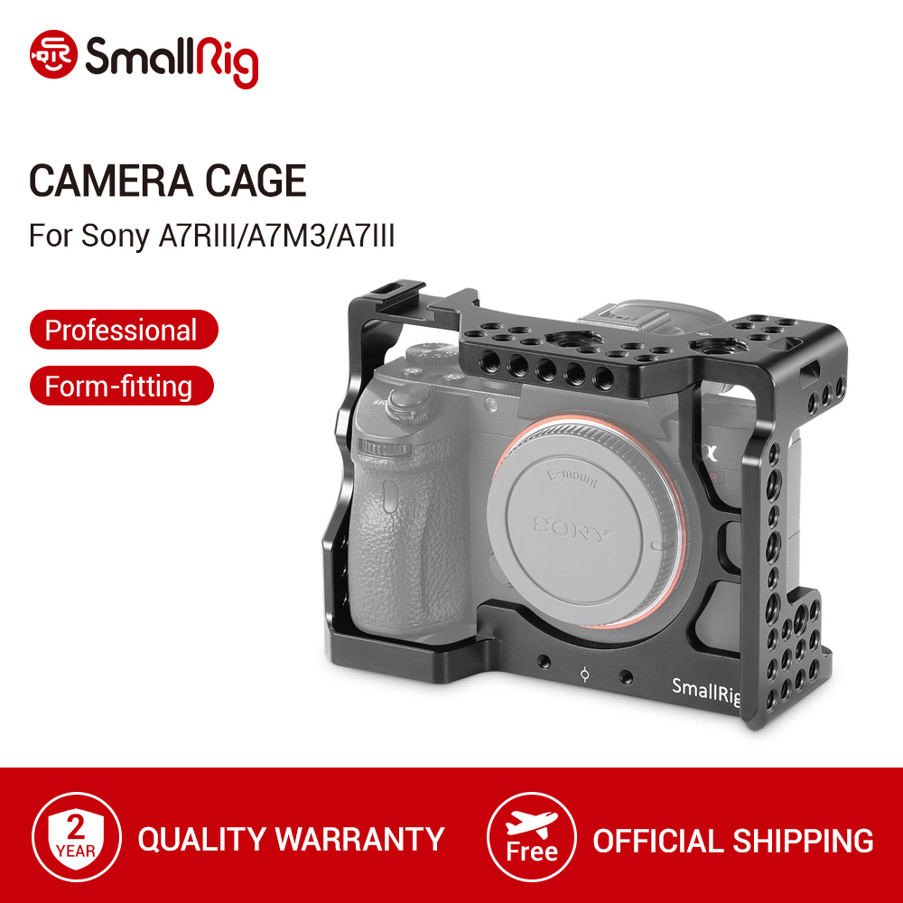 SmallRig a7iii a7r3 a7m3 Cage For Sony A7RIII  A7III A7MIII Aluminum Alloy Cage To Mount Tripod Quick Release Extension Kit-2087