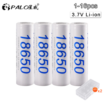 1-16pcs 18650 original Rechargeable li-ion Battery 18650 30A 3.7V 3200mAh lithium li ion liion high current batteries цена 2017